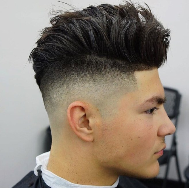 Skull Fade With Loads of Texture Hairstyle