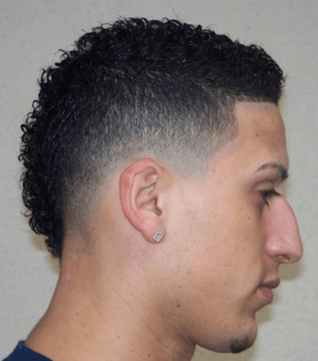Small and Curly Mohawk Haircuts