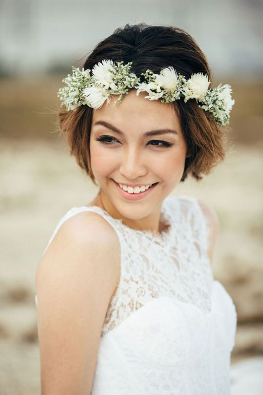 Boho Wedding Hairstyles For Short Hair