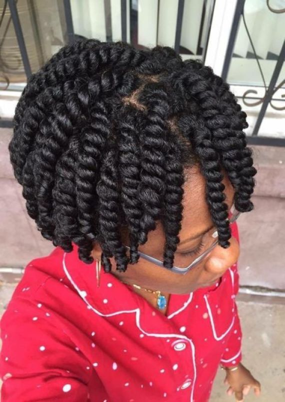 Chunky and Twisted Hairstyle
