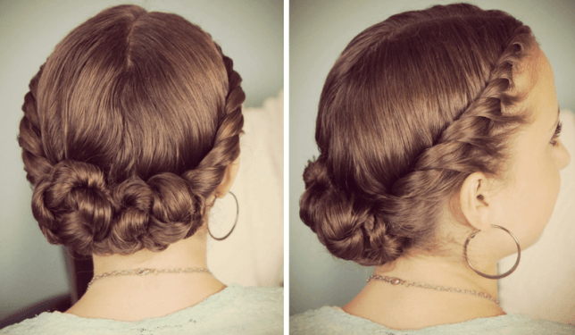 Double and Twisted Braided Updo