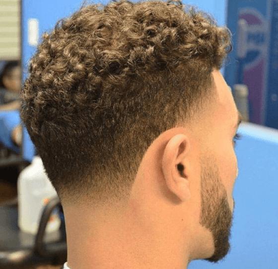 Curly Taper Fade