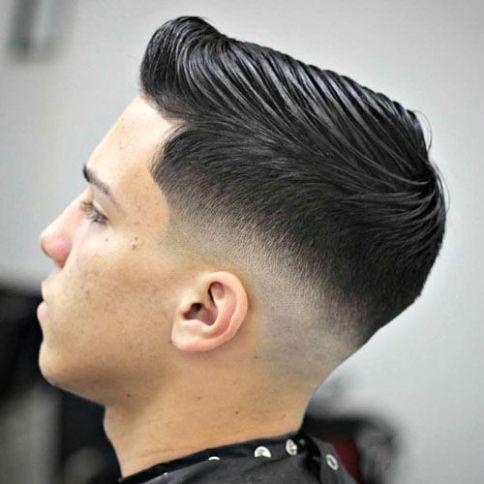 Medium Fade Comb Over