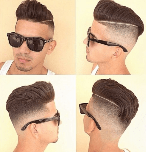 The High Fade Comb Over