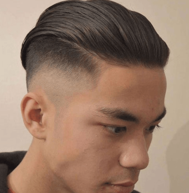 Combed Back Hair with Color