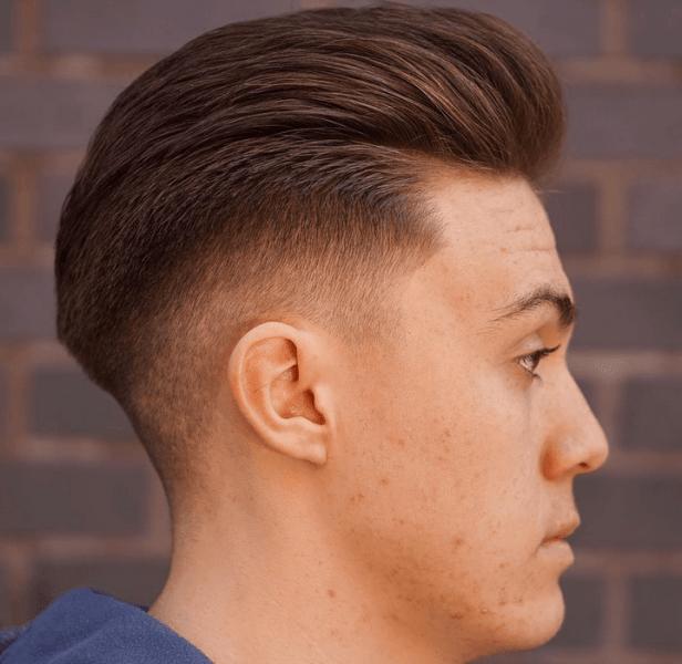 Slicked Back Fade Cut