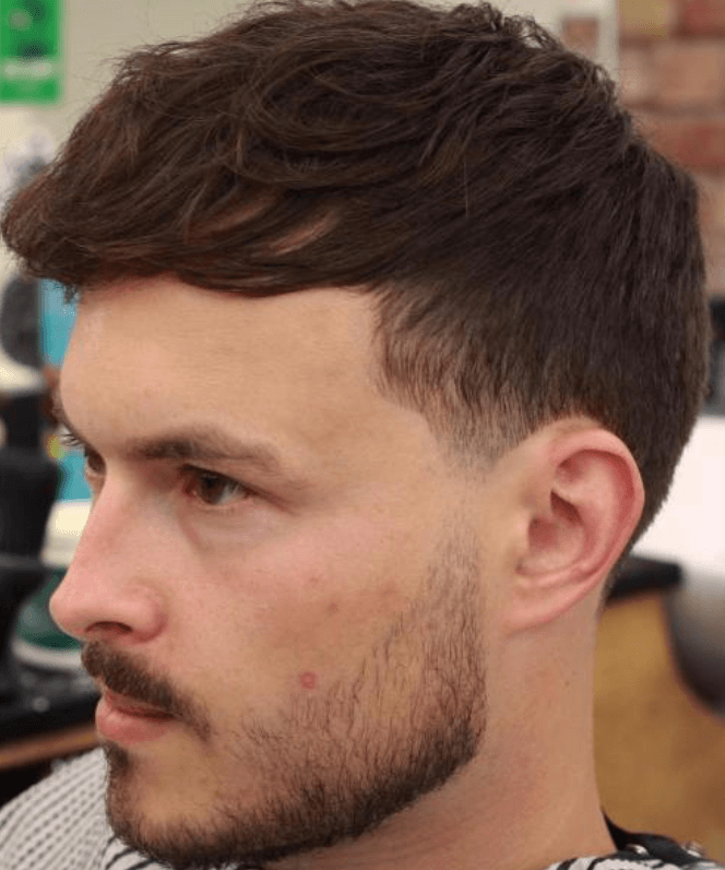 Wavy Forward Hairstyle