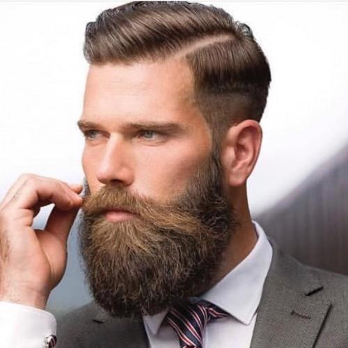 Disconnected Undercut Beard Hipster Haircut