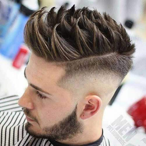 Drop Fade with Spiky Quiff
