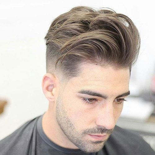 Low Fade with Long Textured Comb Over