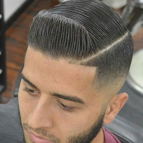 Taper Fade with Comb Over
