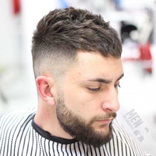 Textured Ivy League Haircut