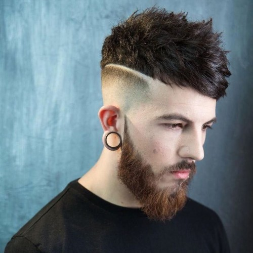 bald fade with cool textured Hipster Haircut