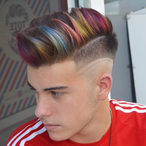 color Hipster Haircut