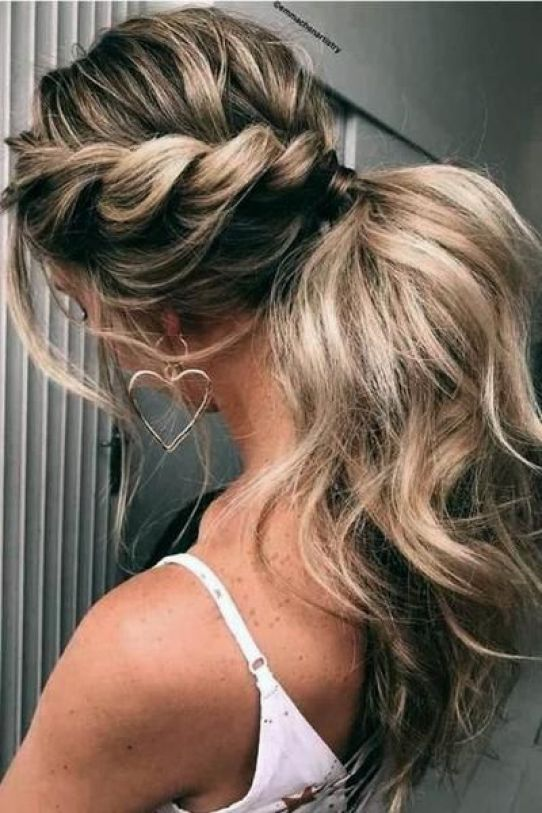 Clip in Ponytail Human Hair Extensions Brown Highlighted Lightest Blonde