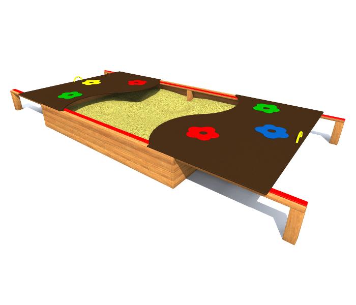 piaskownica z zasuwą na place zabaw