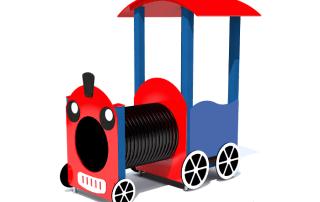plac zabaw Lokomotywa zadaszona tuba [z151b] -Tematyczne place zabaw
