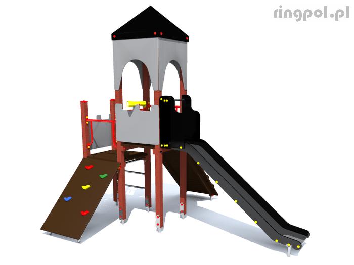 plac zabaw Zamek z lunetą [z154b] -Tematyczne place zabaw