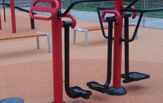 siłownie zewnętrzne, plenerowe, fitness, fitpark -foto z realizacji na Słowacj