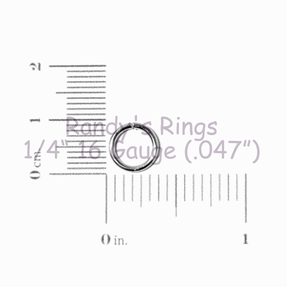 Randy S Rings Gt 1 4 16 Gauge 047 Jump Rings Sample