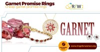Garnet Promise Rings Reflect the Richness of the Deep Red