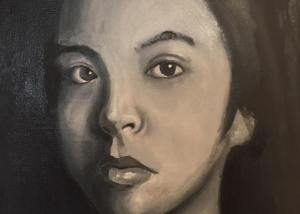 Mono Portrait Folio Prep Painting 6