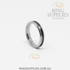 4mm Tungsten Ring Blank with Channel