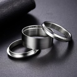 Bent Wood Stainless Steel Ring Liner