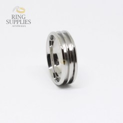 Double Channel Stainless Steel Ring Blank