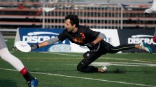 FRISCO, TX: Doublewide vs Ring of Fire - Pool Play - USA Ultimate Club National Championships. October 1, 2015. © Jolie J Lang for UltiPhotos