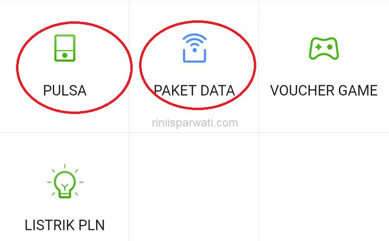 cara beli paket data di shopee