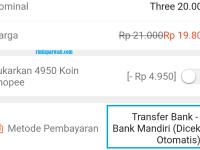 Cara Bayar Shopee Lewat ATM Mandiri, Virtual Account Dan Cek Manual