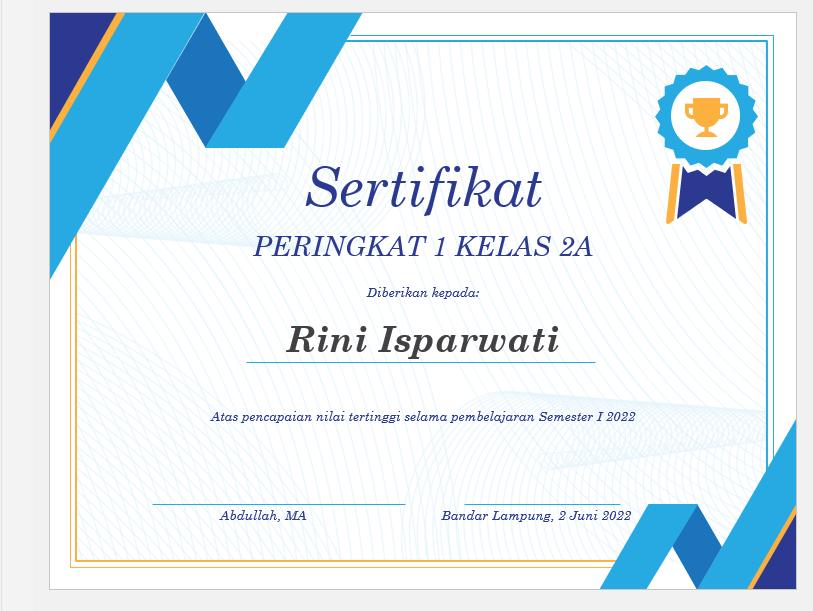 cara membuat desain sertifikat cantik di word