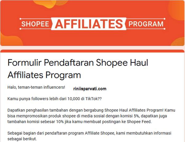 Shopee Affiliate Program, Cara Mendapatkan Uang Dari Shopee Selain Jualan