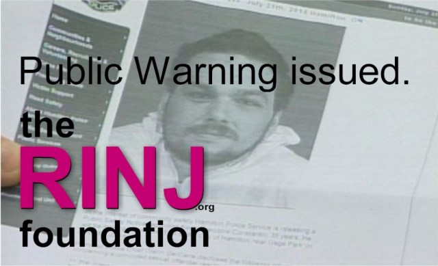 @rapeisnojoke Press Release warned of released dangerous offender. Cops heard Offender Jailed.