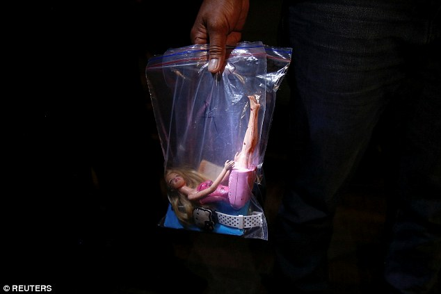 Rosana's Barbie doll in evidence bag