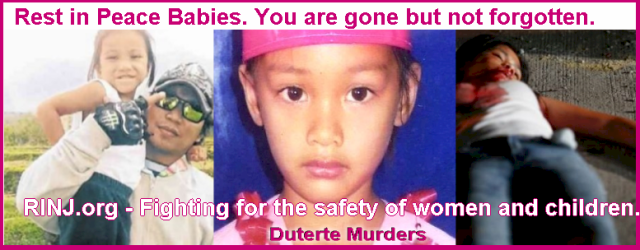 Figting for the safety of women and children. The Duterte Murders Will Not Go unpunished.