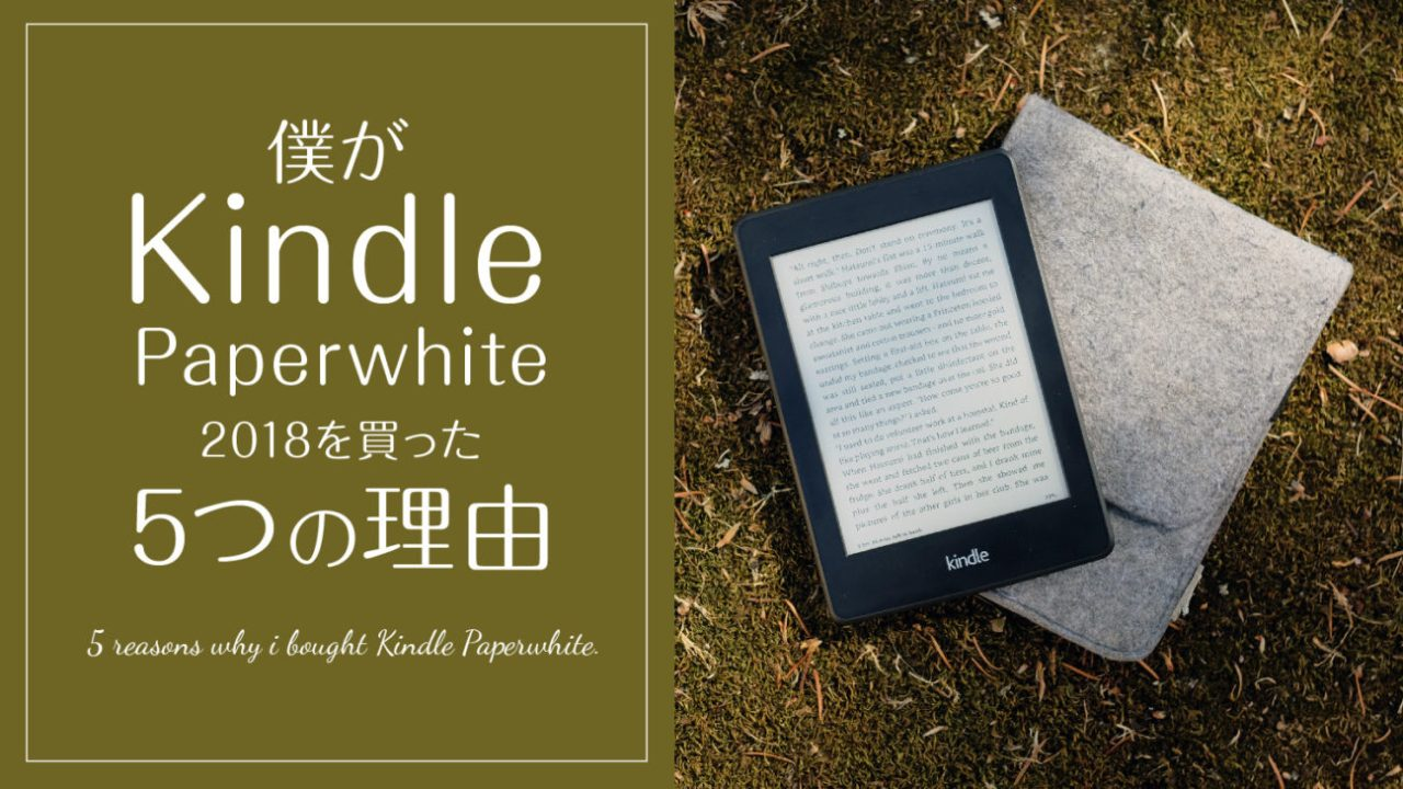 5 reason why i bought kindle paperwhite
