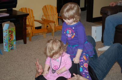 playing horse with Uncle Justin