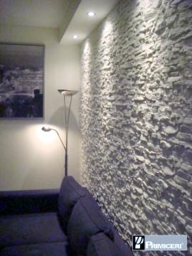 Il soggiorno  rinnovare con la pietra