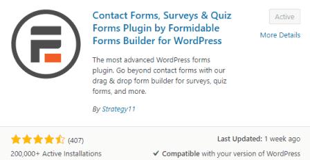 membuat formulir kontak dengan formidable form