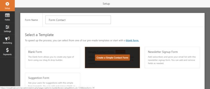 membuat formulir kontak dengan WPForms