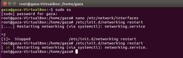 Konfigurasi ip address di Ubuntu
