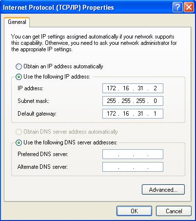 Konfigurasi IP address di Windows XP