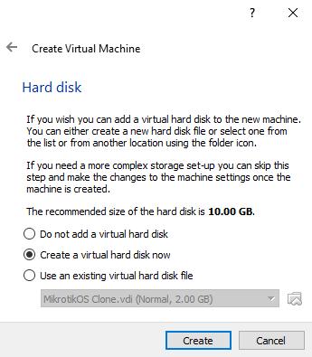 Membuat virtual machine Windows 10