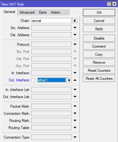 Konfigurasi NAT MikroTik
