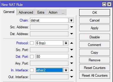 Konfiguras transparent proxy MikroTik