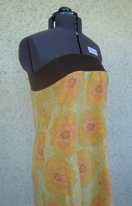 tubklänning gulbrun