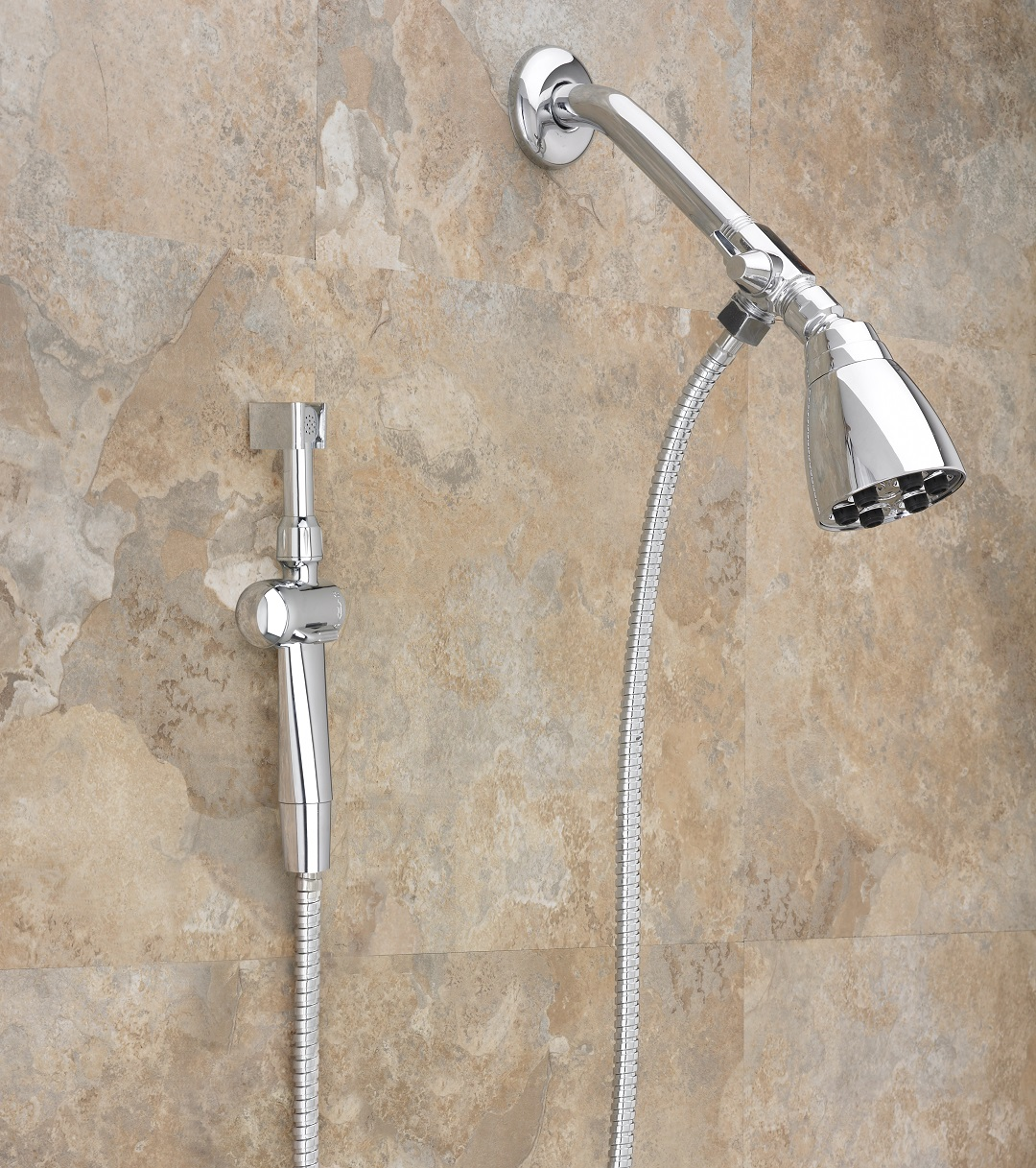 Aquaus 360 Hand Held Bidet for Shower w Stainless Steel