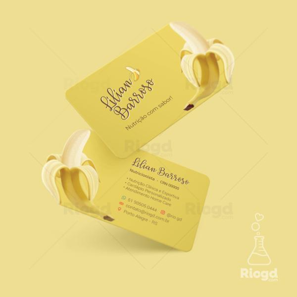 Cartão de Visita Juice Banana